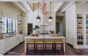 kitchen-cabinets-in-stockbridge-ga-cream-kitchen-blush-island-lime-seat cushions