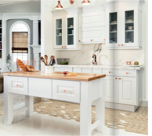 white-kitchen-cabinets-island-Stockbridge-ga
